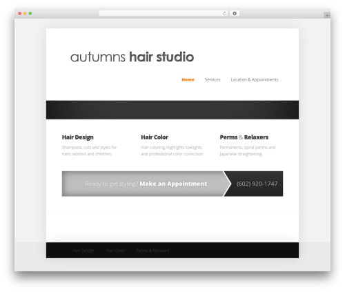 WordPress template autumn - autumnshairstudioaz.com