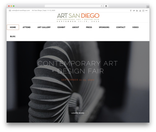 WordPress template Jupiter - art-sandiego.com