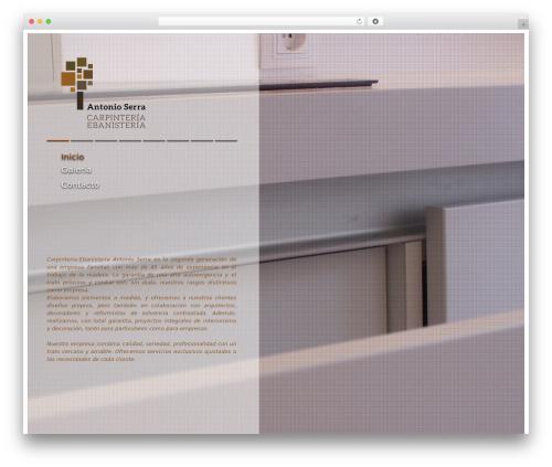 WordPress website template Agora - antonioserra.es
