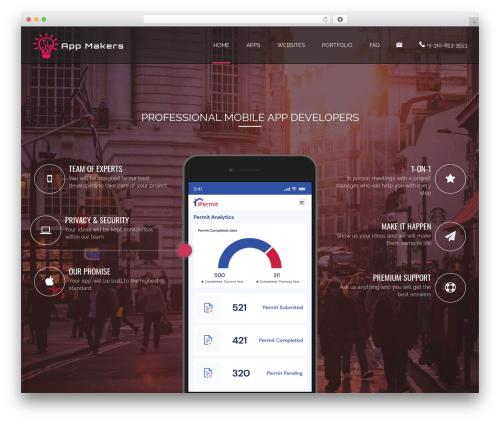 Applay WordPress page template - appmakersla.com