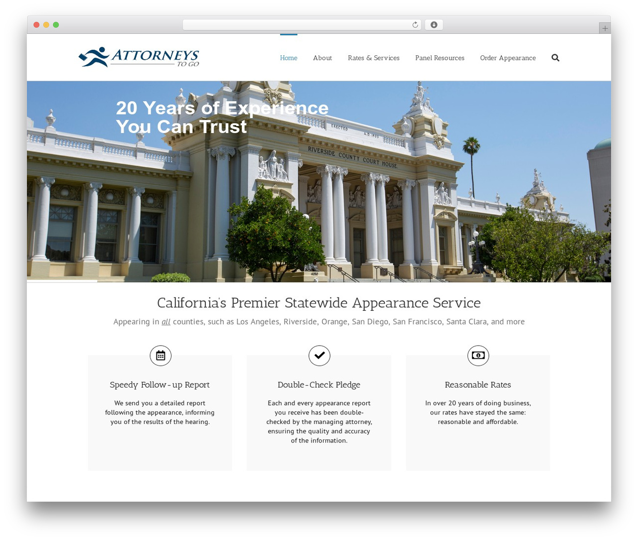 Avada company WordPress theme - attorneystogo.com