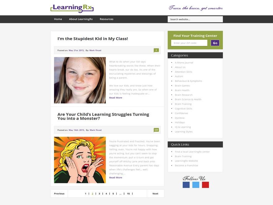 Best WordPress template LearningRx