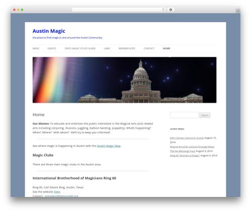Best WordPress template Twenty Twelve - austinmagic.org