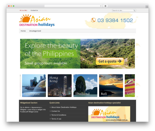 Blognews theme WordPress - asianholidays.com.au