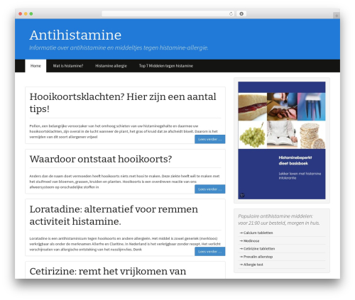 BlueStrap WordPress theme - antihistamine.nl