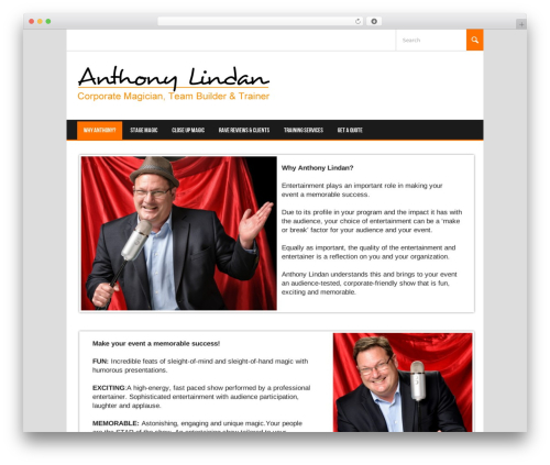 Koenda WordPress template for business - anthonylindan.com
