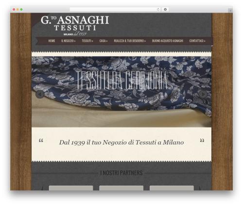 Special WordPress page template - asnaghitessuti.com