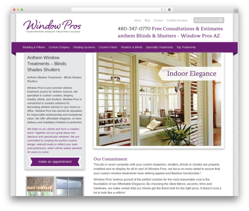 Thesis WordPress theme - anthemblindsandshutters.com