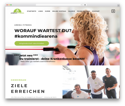 TopFit gym WordPress theme - arena-fitness.de