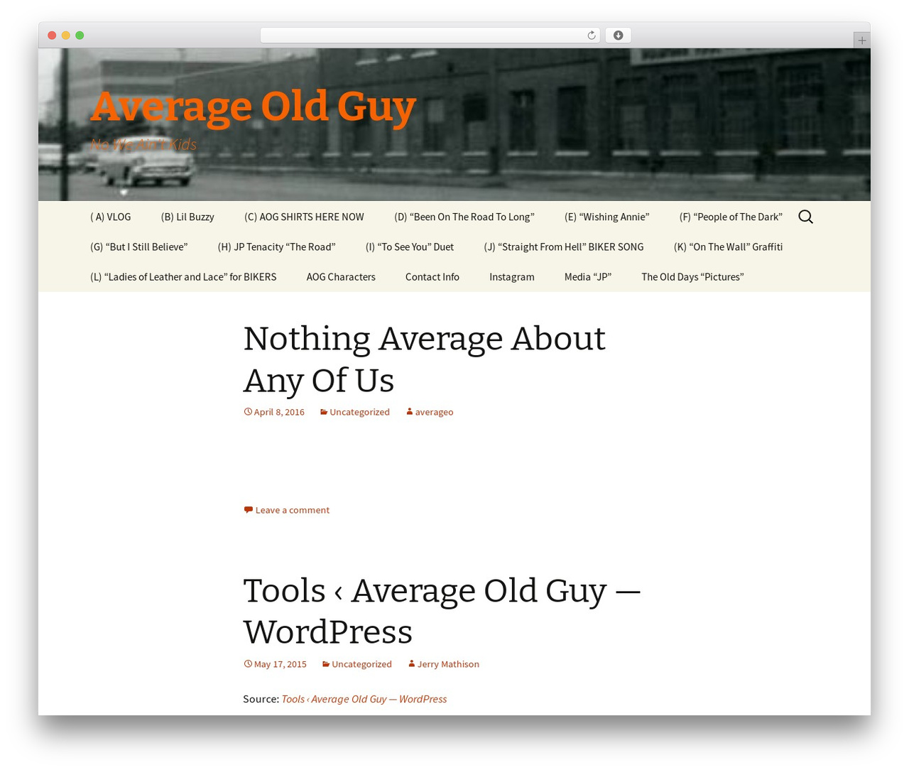 WordPress template Twenty Thirteen - averageoldguy.com