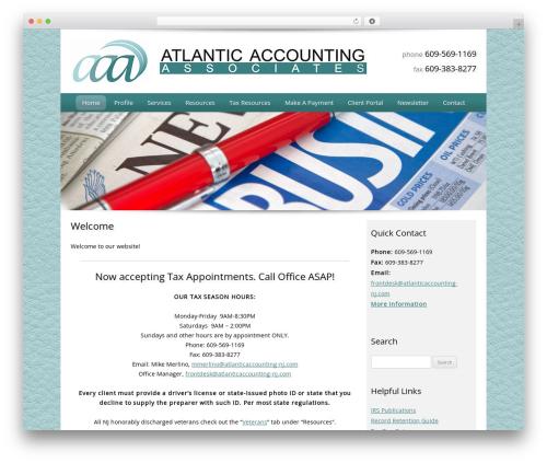 WordPress theme Customized - atlanticaccountingnj.com