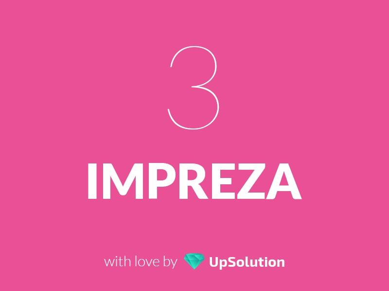WordPress theme Impreza