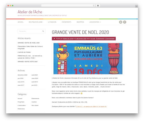 WordPress theme Patus - atelierdelache.org