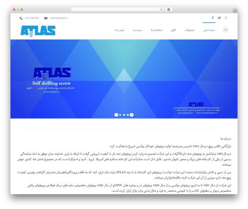 WordPress website template Mexin - atlaspitch.ir