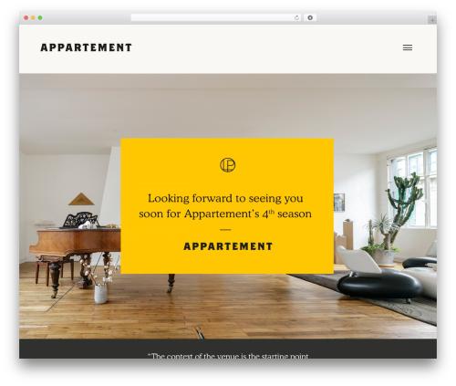 Appart template WordPress - appartement-27bis.com