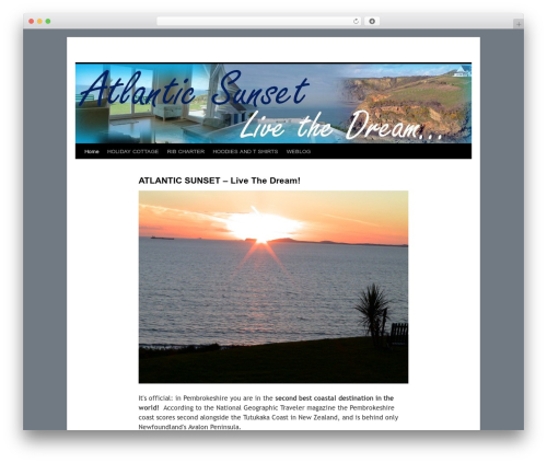 Best WordPress template Twenty Ten - atlanticsunset.co.uk