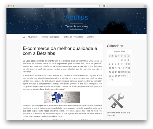 Coeur WordPress template - aquilus.net