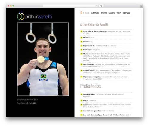 Fitness gym WordPress theme - arthurzanetti.com.br
