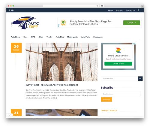 IsleMag WordPress theme free download - autoriff.com
