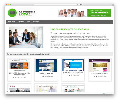 Responsive Business Theme business WordPress theme - assurance-local.ca