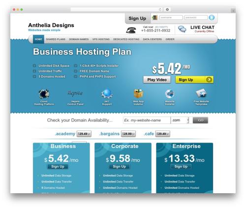 Template WordPress Simply Elegant - antheliadesigns.com