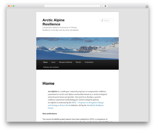 Twenty Eleven free WP theme - arctic-alpine-resilience.net