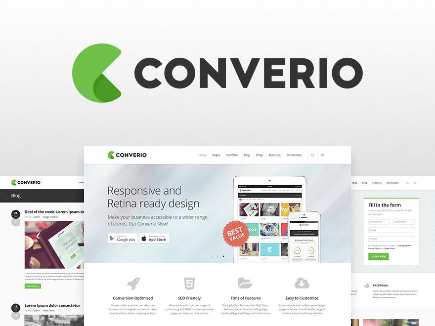 WordPress theme Converio (Share On Theme123.Net)