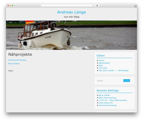BlueGray WordPress blog theme - andreaslange.eu