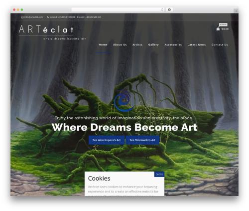 Koda WordPress theme - arteclat.com