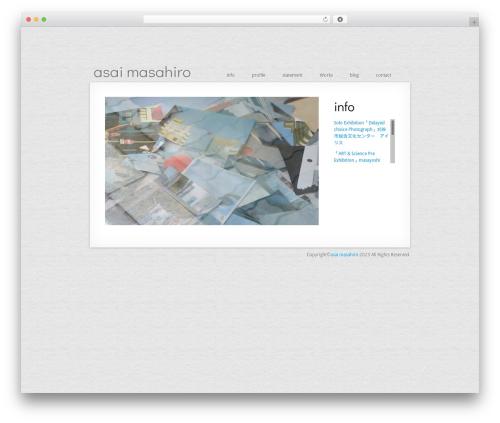 MiniFolio WordPress page template - asaimasahiro.com