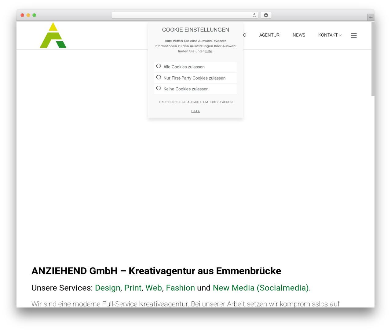 Satellite7 WordPress page template - anziehend.ch