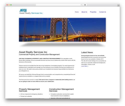 smoothbiz template WordPress - assetrealtyservices.com