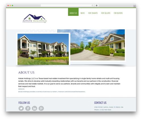 Trias WordPress theme - astuteholdings.com