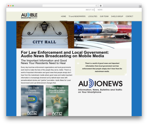 AppMojo company WordPress theme - audiblebroadcasting.com/for-law-enforcement-and-local-government
