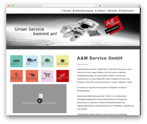 Free WordPress ARVE Advanced Responsive Video Embedder (YouTube, Vimeo, HTML5 Video …) plugin - a-m-service.de
