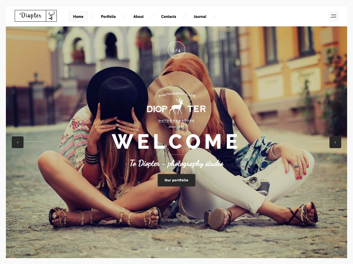 Diopter Child WordPress gallery theme