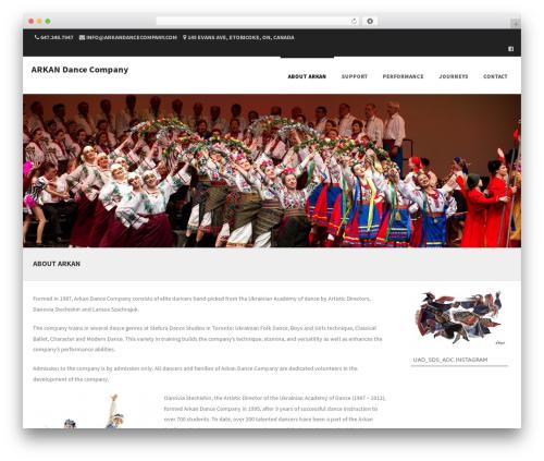 Formation company WordPress theme - arkandancecompany.com