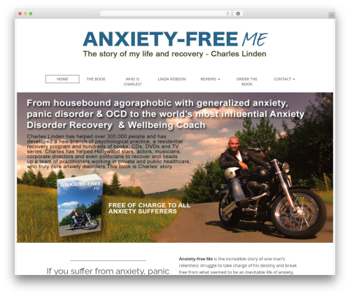 Matheson Pro WordPress page template - anxiety-free.me