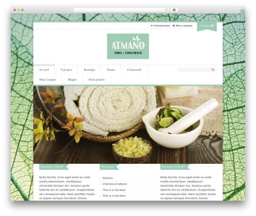 Organic Shop WordPress theme - atmano.ca/?page_id=43&lang=fr_FR