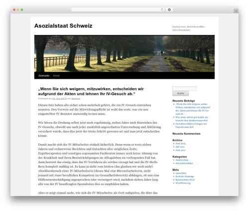 Twenty Ten theme WordPress - asozialstaat.ch