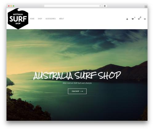 WordPress website template Adot - australia-surfshop.de