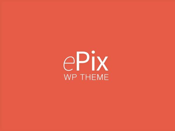 WordPress website template ePix