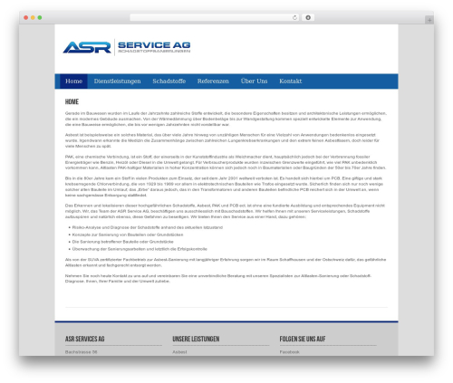 ASR Service best WordPress theme - asr-service.ch
