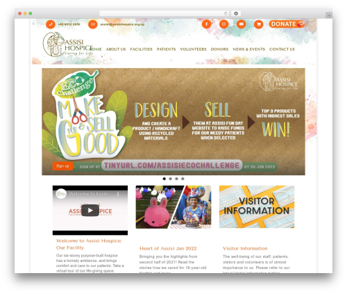 Assisi Hospice best WordPress template - assisihospice.org.sg