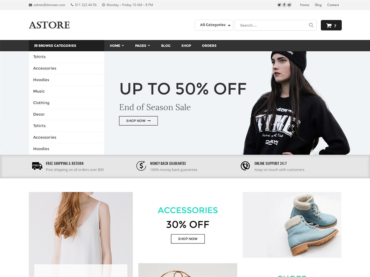 Astore WordPress store theme