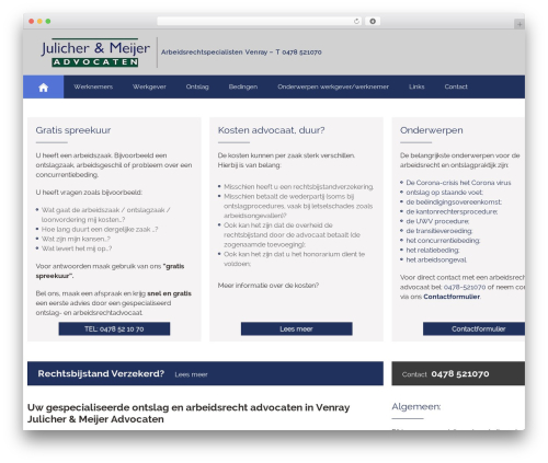 Attorney WP template - arbeidsrechtspecialisten.nl