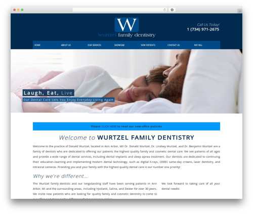 DentalCMO Build (2013) best WordPress template - annarbordentist.com