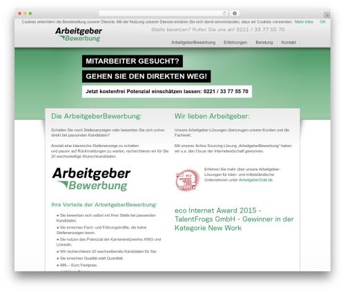 Dottoro premium WordPress theme - arbeitgeberbewerbung.de