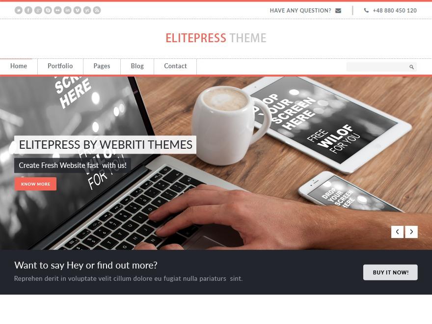 Elitepress Pro top WordPress theme