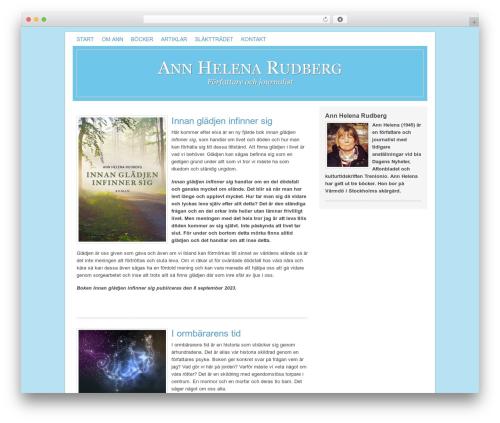 Genesis WordPress template - annhelenarudberg.se